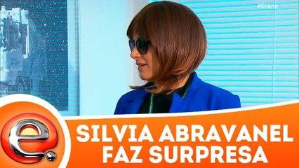 Silvia Abravanel faz surpresa no programa Eliana