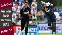 New Zealand vs West Indies | 3rd ODI | 26 Dec 2017 | NZ Won By 66 Runs & Series Win 3-0 | Highlights