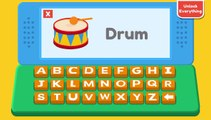 abc kid - phonics song with two words - a for apple - abc alphabet songs with sounds for chil