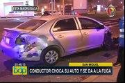 San Miguel: conductor choca su auto y se da a la fuga