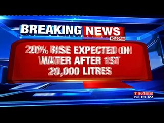 Water Rates To Go Up By 20%25 In Delhi