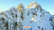 Adrénaline - Ski : Une bonne dose de poudreuse pour Romain Grojean sur Les Arcs