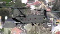 Chinook hovering in Llanbadarn Aberystwyth Wales : Lovely sound!
