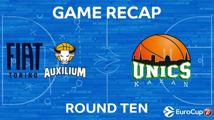 7DAYS EuroCup Highlights Regular Season, Round 10: Fiat Turin 72-79 UNICS