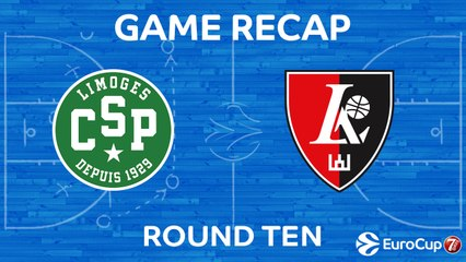 7DAYS EuroCup Highlights Regular Season, Round 10: Limoges 69-71 Rytas