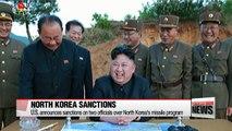 U.S. announces sanctions on two officials over North Korea's missile program