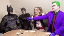 Batman Joker Harley Quinn Catwoman MOVIE CHALLENGE!!! | Superheroes | Spiderman | Superman | Frozen Elsa | Joker