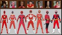 All Red Rangers of Power Rangers (1993 to 2017)Mighty Morphin Power RangersTo Ninja Steel
