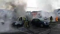 Fontaine-l'Evêque: incendie de voitures