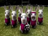 Les lapins crétins - Le haka (Rayman)