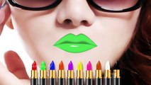 Learn Colors with Color Lipstick, Colours to Kids Children Toddlers Baby, Learning Videos