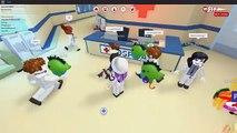 ROBLOX MEEP CITY HOSPITAL ROLEPLAY | SICK BABY & SURGERY | RADIOJH GAMES