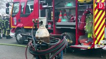 Un incendie ravage la scierie de Juillan