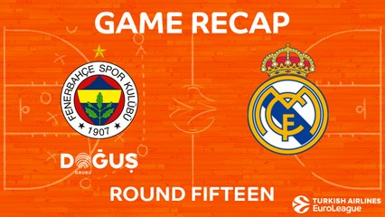 EuroLeague 2017-18 Highlights Regular Season Round 15 video: Fenerbahce 77-79 Madrid