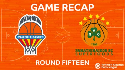 EuroLeague 2017-18 Highlights Regular Season Round 15 video: Valencia 67-63 Panathinaikos