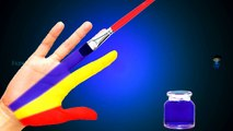 Body Painting Learning Colors Video for Children, Paint Colors Finger Learn Colours