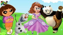 Wrong Eyes Sofia the first Olaf Kung Fu Panda Dora the explorer Finger family song for kids fu