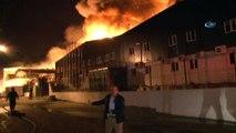 Kocaelide fabrika yangını    3 fabrika alev alev yanıyor