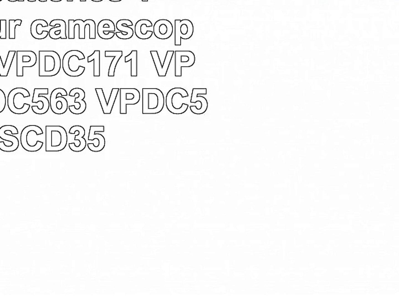 Set de 3 batteries 1200mAh pour caméscope Samsung VPDC171 VPDC171W VPDC563 VPDC575WB
