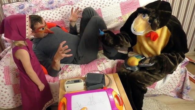 Masha and the Bear cartoon MASHA AND the BEAR Play doctor with INJECTIONS Vitamins Ma