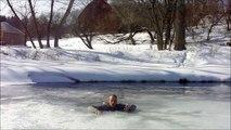 comment se sauver d'une chute à travers la glace