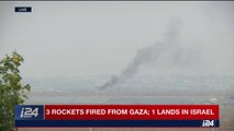 BREAKING: Israel's Iron Dome system intercepted 3 rockets fired from Gaza, One landed in Israel.