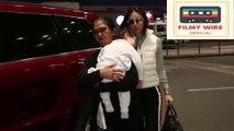 CUTE Taimur Ali Khan Spotted At Mumbai Airport With Dad Saif Ali Khan  Mom Kareena Kapoor