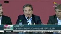 Gob. de Argentina reconoce que no podrá cumplir su meta de inflación