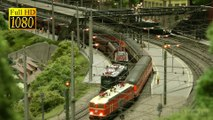 At The Train Station of Josef Brandl 's Austrian Model Railroad Layout