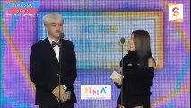 [Legendado PT-BR] BTS Suga e Suran ganha prêmio Hot trend @ MMA2017