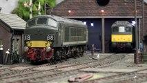 British Model Railway Layout Ladeside Diesel Depot in O Gauge