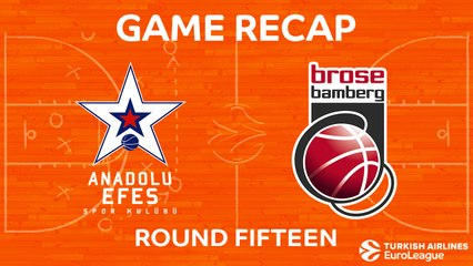 EuroLeague 2017-18 Highlights Regular Season Round 15 video: Efes 69-58 Bamberg