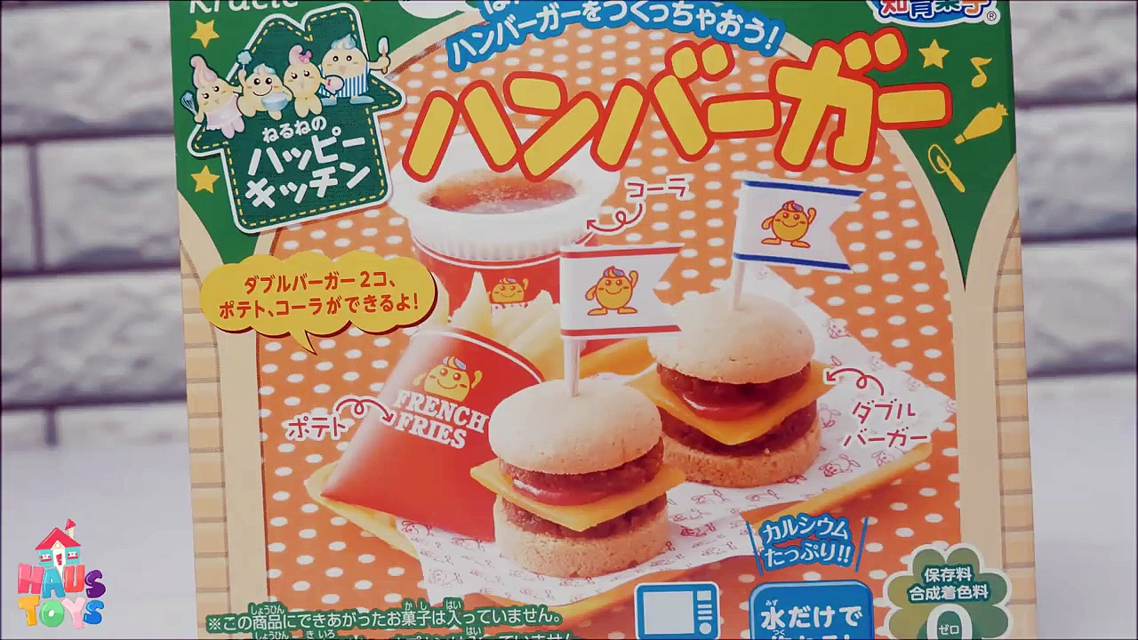 Kracie Popin' Cookin' Happy Kitchen Hamburger Fries & Cola Soda DIY Japanese Candy Maki