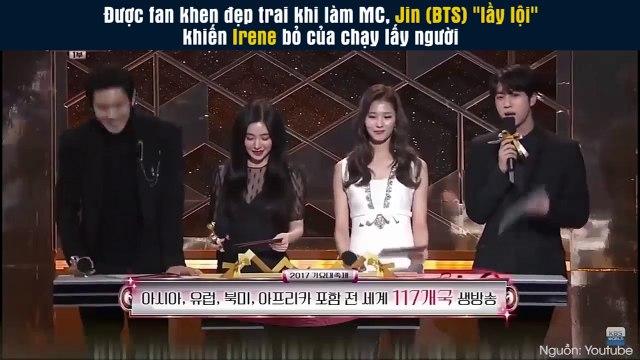Được fan khen đẹp trai khi làm MC trên sân khấu, hành động của Jin (BTS) khiến Irene, Sana, Chanyeol cạn lời