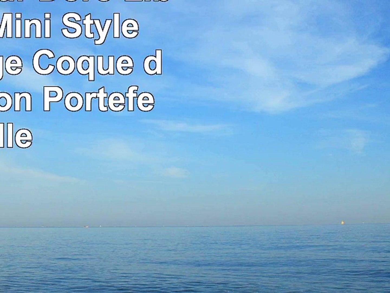 Housse pour Doro Liberto 820 Mini Style livre orange Coque de protection Portefeuille