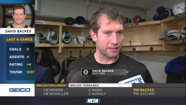 Bruins Breakaway Live: David Backes On Bruins' Recent Success