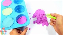 DIY How To Make Colors Kinetic Sand Ice Cream Cone Learn Colors For Children by Ha