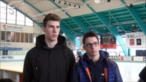 Hockey sur glace - 2017-12-26 Interviews Justin addamo & Téo Sarliève Internationaux France U20