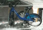 High Winds Lift Citi Bike From the Ground During NYC Nor'easter