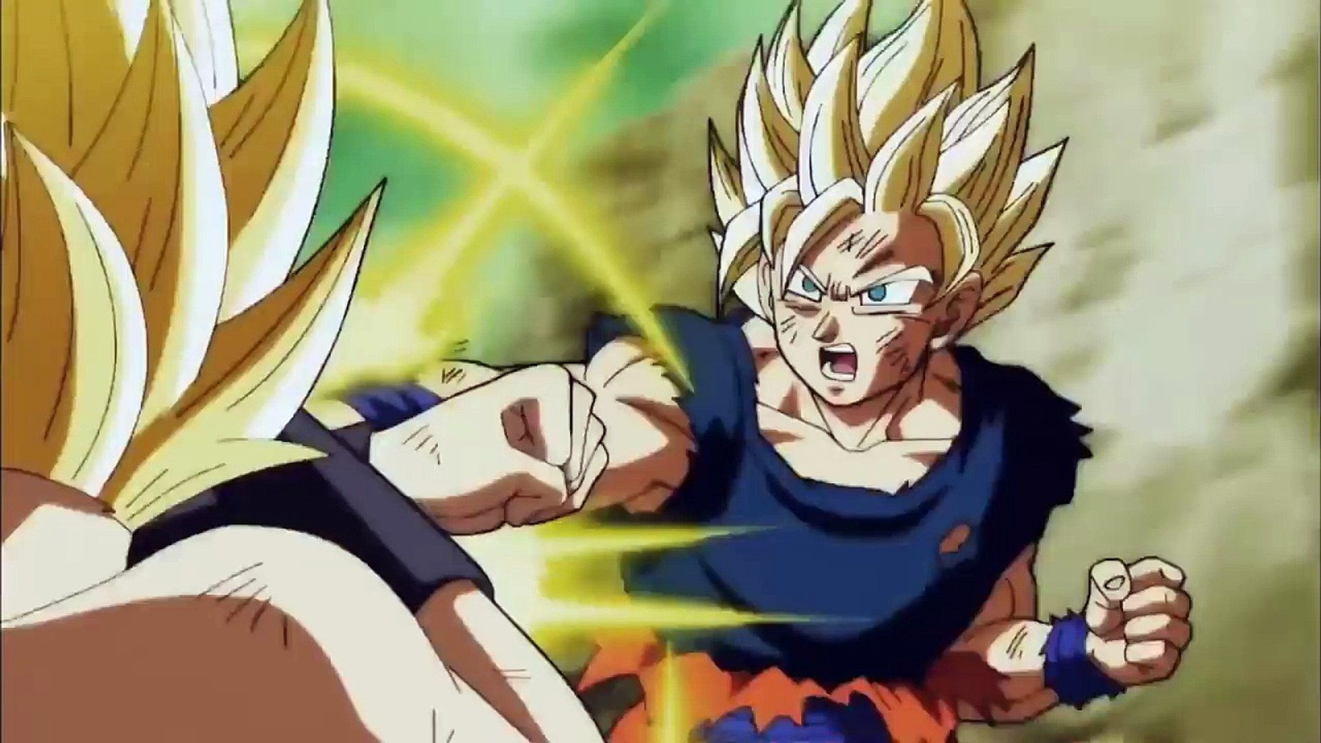 Goku Super Saiyan 2 Vs Caulifla Super Saiyan 2 Dragon Ball Super