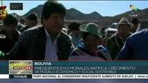 Cierra mandatario boliviano 2017 con la entrega de obras públicas