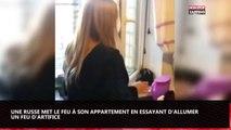 Une russe s'amuse avec des feux d'artifice et met le feu à son appartement (vidéo)