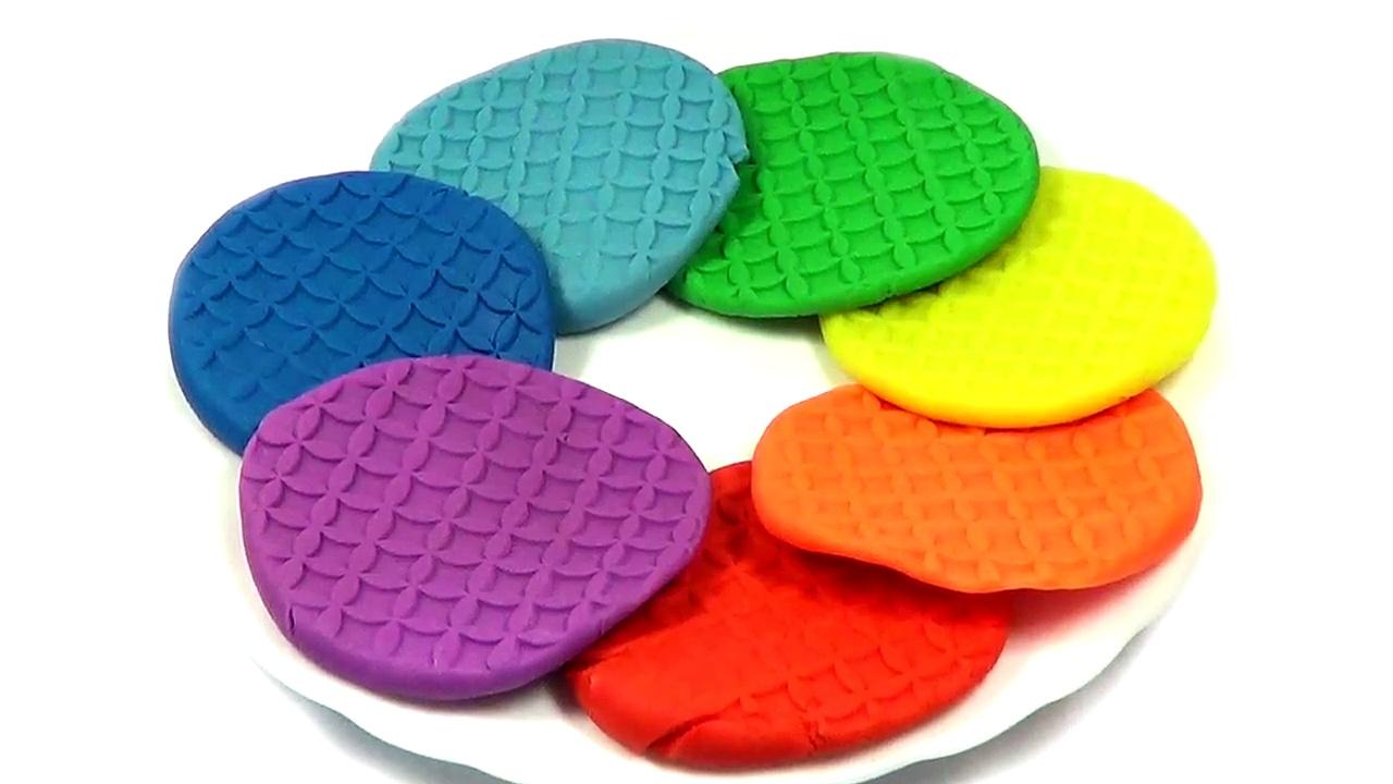 PLAY DOH – rainbow cookies, rainbow biscuits-