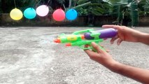 Experiment Toy Gun,Diverse liquid,Water vs Balloon - Gun Balloon Trick Shots - Epic Water Gun