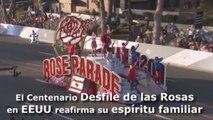 El centenario Desfile de las Rosas en EEUU reafirma su espíritu familiar