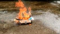 Full Box of Toys Burn by Fire - My Massive gun collection - Box of toy - Fire vs box of toys par