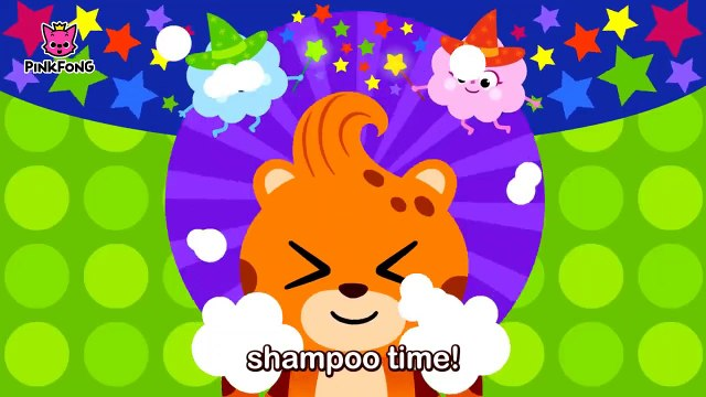 Wash My Hair _ Everybody, fun time, shampoo time! _ Healthy Habits _ Pinkfong Songs for Chi