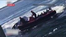 89 yaşındaki adam, sulara gömülen araçtan son anda kurtarıldı.
