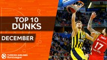 Turkish Airlines EuroLeague, Top 10 Dunks, December