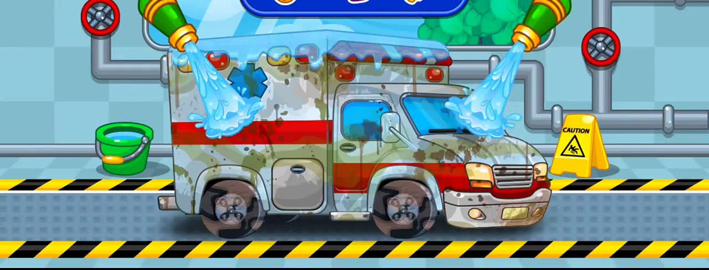 Araba Yikama Boyama Oyunu Eglenceli Cocuk Filmi Ambulans Taksi